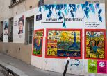 Streetart rue du retrait Paris 20<br/>Michel BOURGOUIN